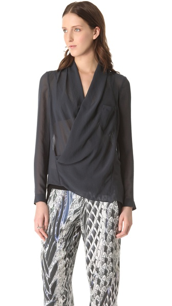 Helmut Lang Lyra Pocket Drape Shirt