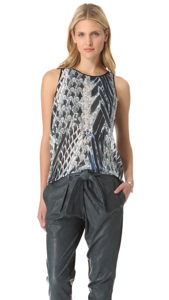 Helmut Lang Pheasant Voile Top