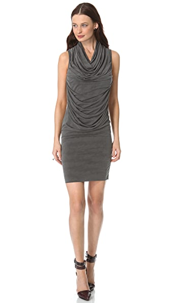 Helmut Lang Shade Cowl Dress