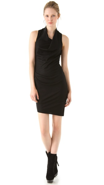 Helmut Lang Sonar Wool Sleeveless Dress
