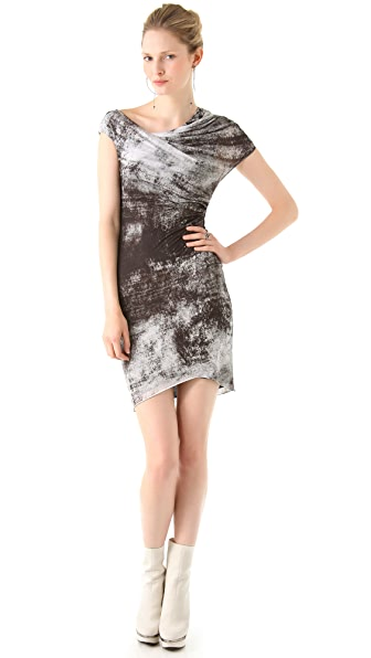 Helmut Lang Transfer Print Jersey Dress