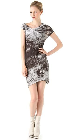 Helmut Lang Transfer Print Jersey Dress