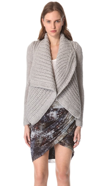 Helmut Lang Augmented Shawl Cardigan