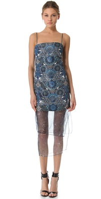 Helmut Lang Mandala Wet Print Dress