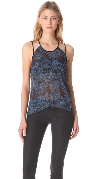 Helmut Lang Medallion Rubber Print Tank