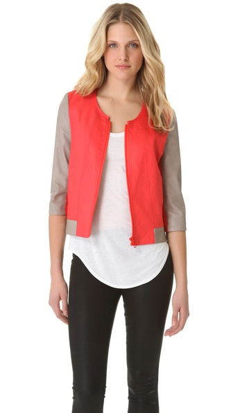 Helmut Lang Glossy Linen Twill Bomber Jacket | SHOPBOP from shopbop.com