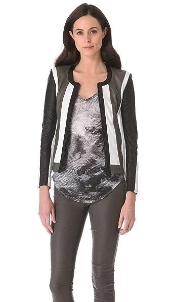 Helmut Lang Pax Leather Combo Jacket