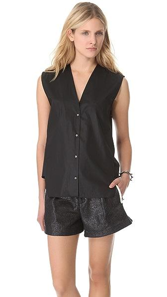 Helmut Lang Chintz Sleeveless Shirt