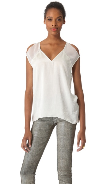 Helmut Lang Chroma Drape Cutout Top