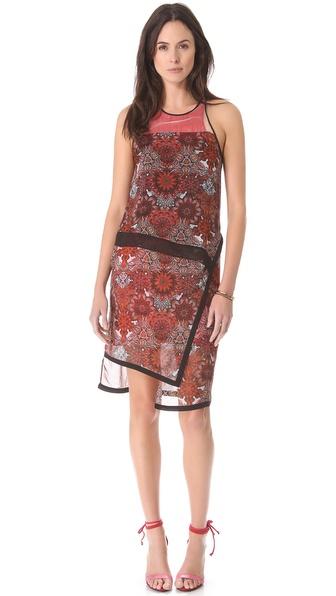 Helmut Lang Mandala Print Layer Dress