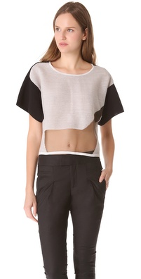Helmut Lang Transparent Grid Boxy Sweater