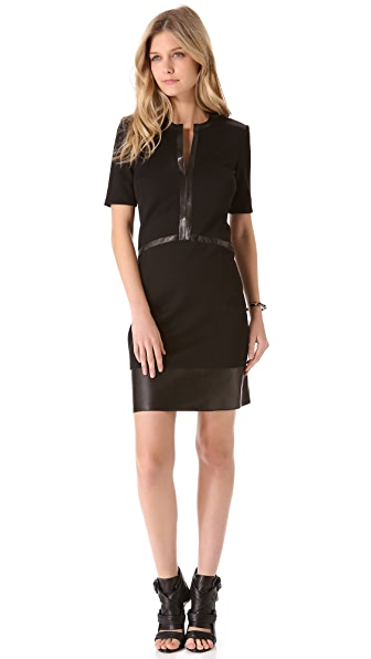 Helmut Lang Motion Slash Panel Dress