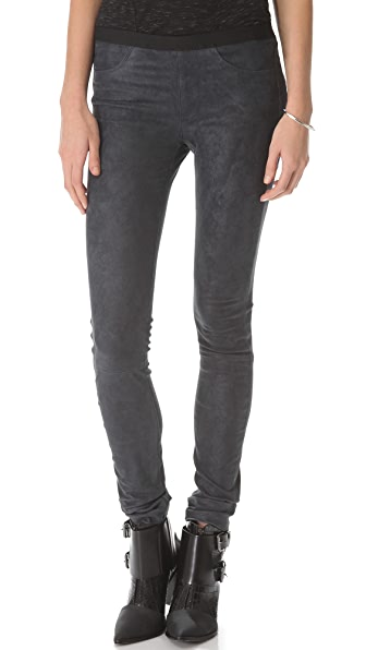 Helmut Lang Patina Stretch Leather Leggings