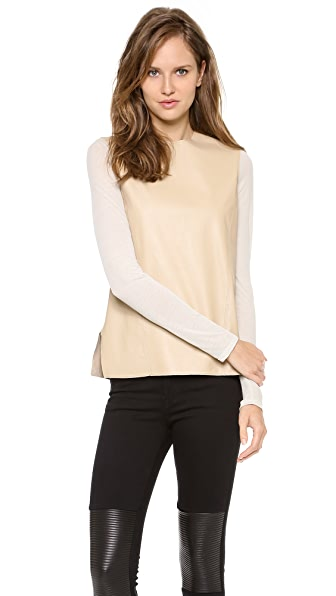 Helmut Lang Leather Top
