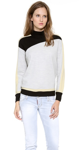 Helmut Lang Asymmetrical Turtleneck Top