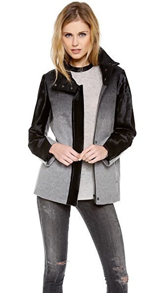Helmut Lang Funnel Neck Ombre Jacket