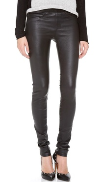 Helmut Lang Stretch Plonge Leather Leggings