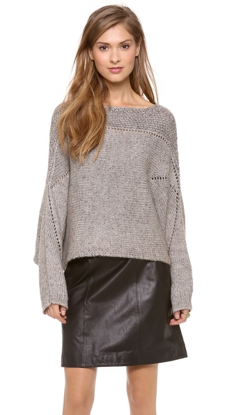 Helmut Lang Polar Knit Crop Sweater