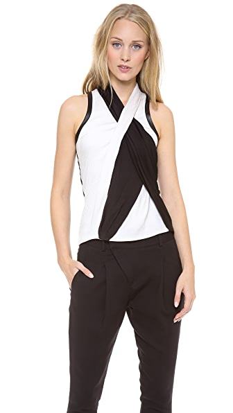 Helmut Lang Twisted Drape Top