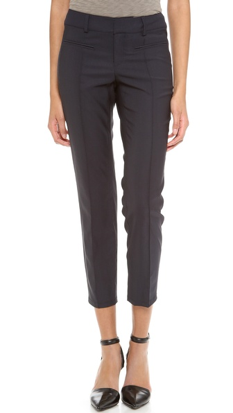 Helmut Lang Stretchy Wool Stovepipe Trousers