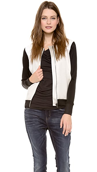 Helmut Lang Gloss Knit Baseball Jacket