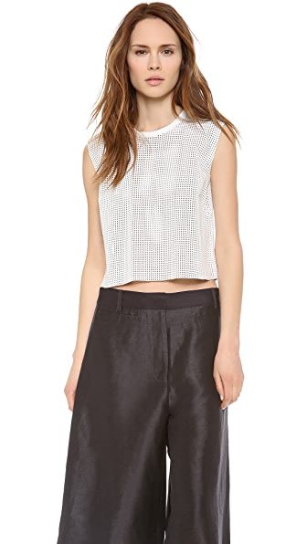 Helmut Lang Leather Crop Top