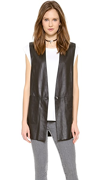 Helmut Lang Stilt Leather Vest