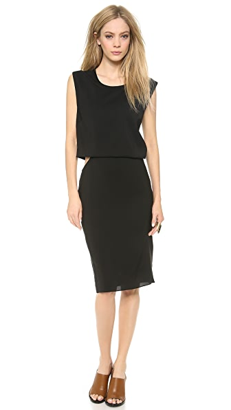Helmut Lang Square Cutout Dress