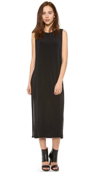 Helmut Lang High Slit Cutout Dress