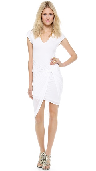 Helmut Lang V Neck Twist Dress