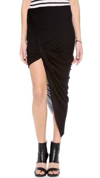Helmut Lang Asymmetrical Wrap Skirt