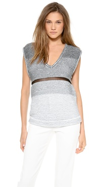 Helmut Lang V Neck Degrade Sweater