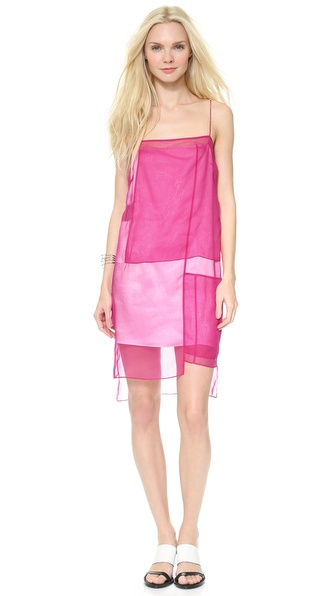 Helmut Lang Colorblock Organza Dress