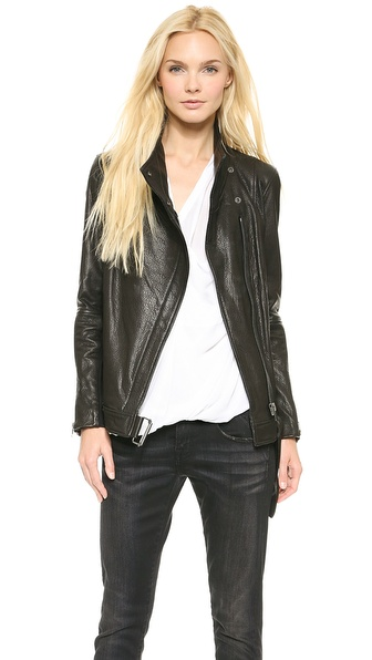 Helmut Lang Cluster Leather Moto Jacket