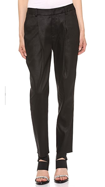 Helmut Lang Pleated Ankle Pants
