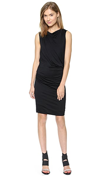 Helmut Lang Crossover Drape Dress