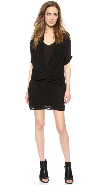 Helmut Lang Draped Overlap Dress