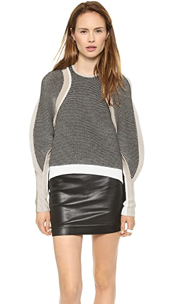 Helmut Lang Converging Panel Pullover