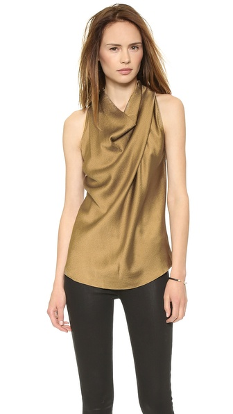 Helmut Lang High Neck Cowl Top
