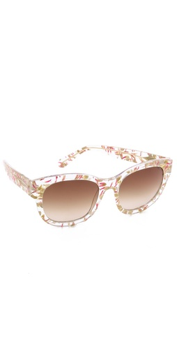 Heidi London Flower Petal Embedded Sunglasses