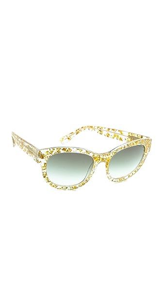 Heidi London Flower Petal Embedded Sunglasses