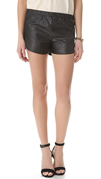 Heidi Merrick Vegan Leather Mussel Shorts