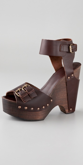 HOSS Ankle Cuff Clog Sandals