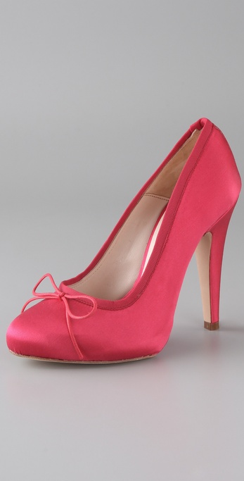 HOSS Tapered Toe Satin Pumps