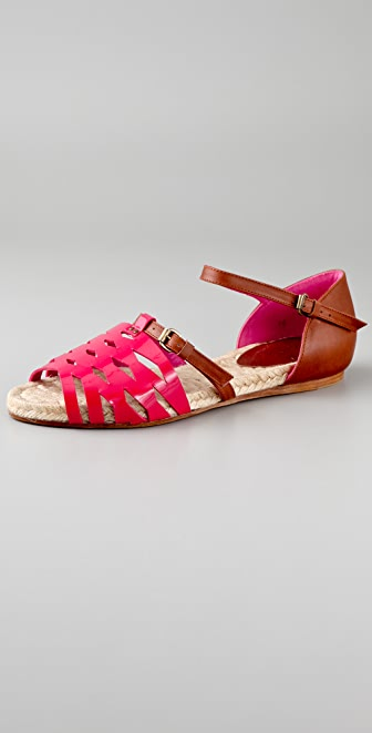 HOSS Cutout Flat Espadrille Sandals