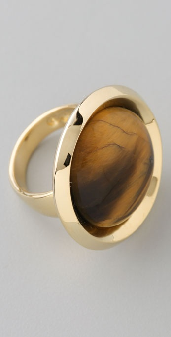 House of Harlow 1960 Tiger's Eye Dome Ring