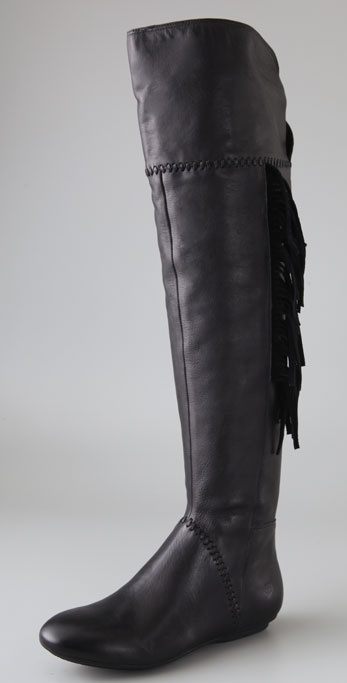 House of Harlow 1960 Tessa Over the Knee Boots with Fringe