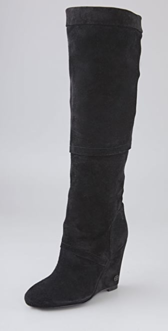 House of Harlow 1960 Samia Suede Wedge Boots