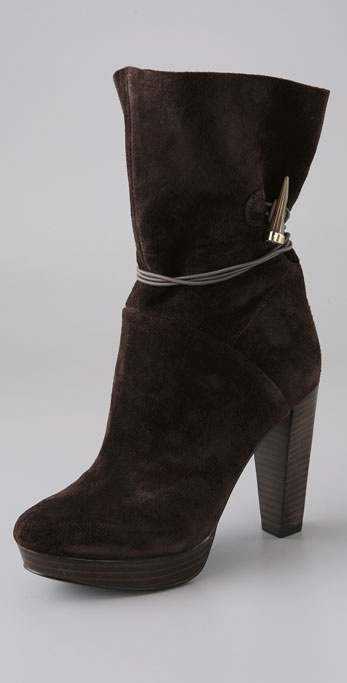 House of Harlow 1960 Dyson Suede Platform Booties