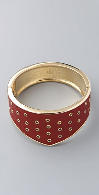 House of Harlow 1960 Leather Riveted Gladiator Cuff